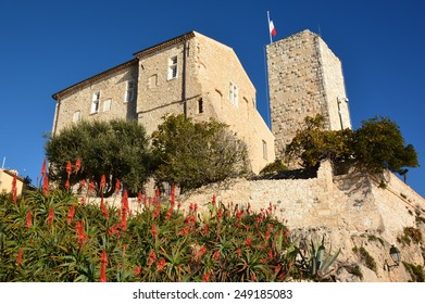 Grimaldi castle in Antibes, French Riviera, is classified historic monument. In 1946 Pablo Picasso installed his workshop in this castle, become today a museum dedicated to this artist.