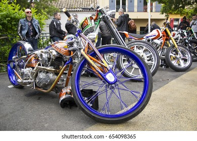 Grimaud,France-May 11th,2017:Harley Davidson Euro Festival of Grimaud