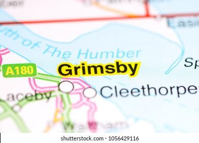 Grimsby. United Kingdom on a map