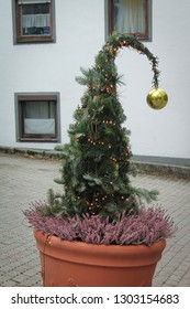 grinch Christmas tree in Friesing, Germany