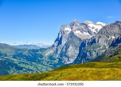 Grindelwald - beautiful village in mountain scenery -  Switzerland