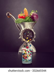 Grinder makes pills from fresh vegetables