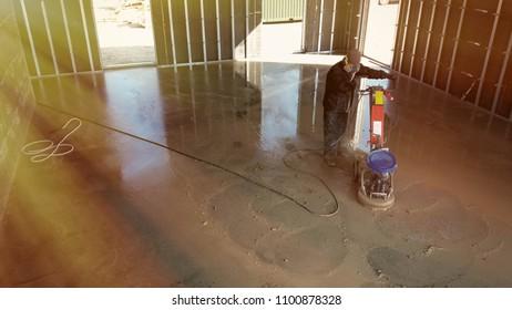 grinding of concrete floor
