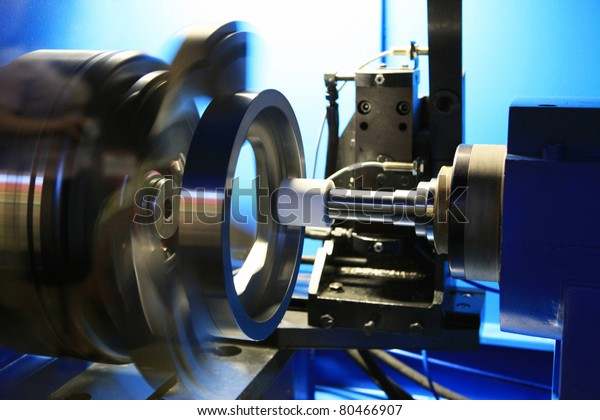 Grinding of a round detail on the special machine tool with a great speed