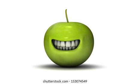 Grinning apple