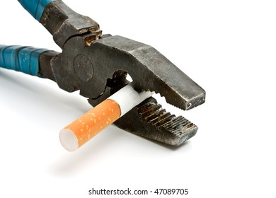 grips and cigarette