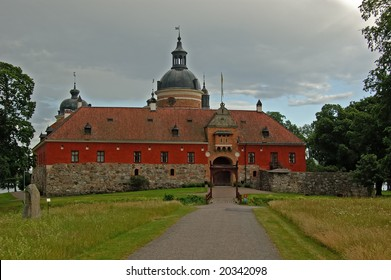 Gripsholm castle on the bank of Mälaren lake near Mariefred city, Södermanland county, Sweden