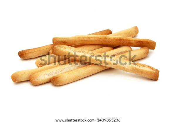 Grissini Italian Breadsticks Isolated On White Stock Photo Edit Now 1439853236