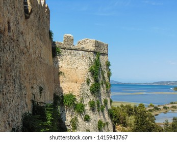 The Griva Castle ruins, a Castle build by Ali Pasha Tepelena with a unique view to the Ionian sea, the Ambracian gulf and Lefkada in Greece.