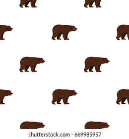 Grizzly bear pattern seamless for any design  illustration