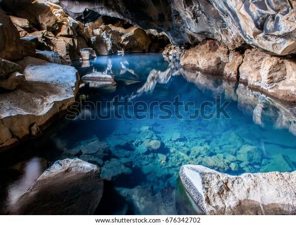 Grjotagja Cave Hot Spring Iceland