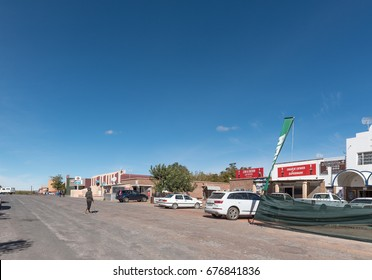 GROBLERSHOOP, SOUTH AFRICA - JUNE 11, 2017: A street scene in Groblershoop, a small town in the Northern Cape Province