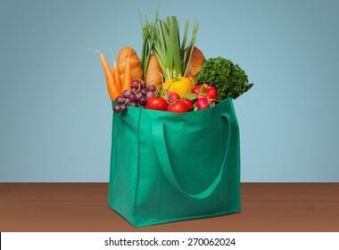 Groceries, Shopping, Bag.