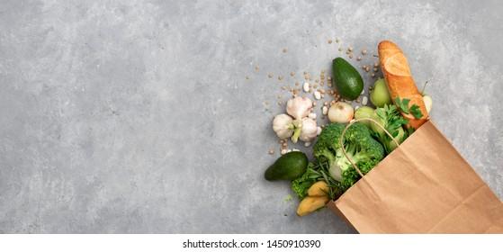 Einkaufsbeutel für Lebensmittel mit gesundem Blick