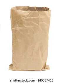 grocery bag on white background