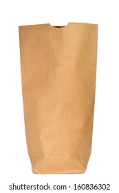 a grocery paper bag on a white background