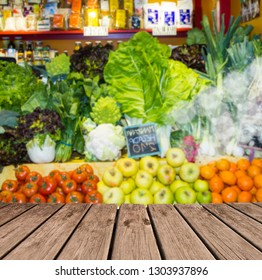 grocery store and vegetables