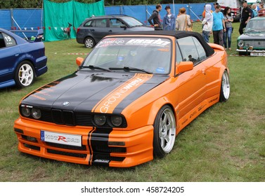 """Grodno, Belarus, 23 July 2016: Demonstration of cars in the Festival of cars """"SunDay AutoGrodno 2016""""."""