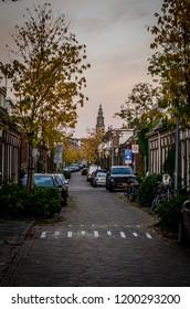 Groningen, Holland. Octorber, 09, 2018: Street in Groningen