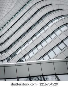 Groningen, Holland. September 29, 2018: Strange architecture at a office building in Groningen Holland
