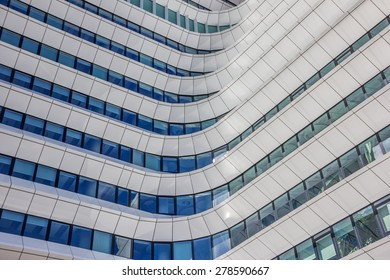 GRONINGEN, NETHERLANDS - APRIL 5: Facade of a comtemporary office building on April 5, 2015 in Groningen.