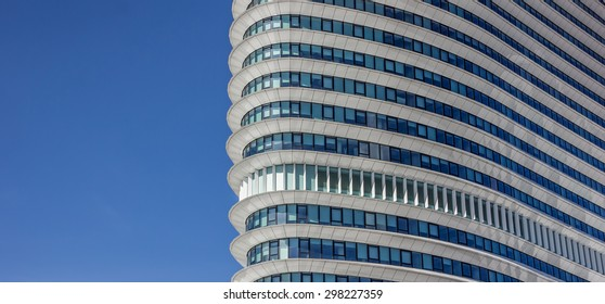 GRONINGEN, NETHERLANDS - APRIL 5: Facade of a modern office building on April 5, 2015 in Groningen.