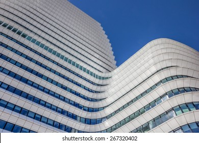 GRONINGEN, NETHERLANDS - APRIL 5: Modern architecture of a government building on April 5, 2015 in Groningen.