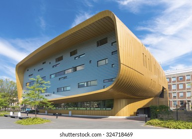 GRONINGEN, NETHERLANDS - AUGUST 22, 2015: Exterior of the training center of the UMCG, the university medical center of groningen
