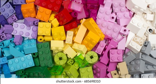 Groningen, NETHERLANDS - FEBRUARY 09, 2017: Lego is a line of plastic construction toys that are manufactured by The Lego Group, a privately held company based in Billund, Denmark.