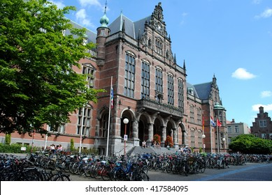 GRONINGEN, THE NETHERLANDS, July 7, 2012: The Academy Building is the main building of the University of Groningen. It was built in 1909 on the foundations of an older building that was lost in a fire