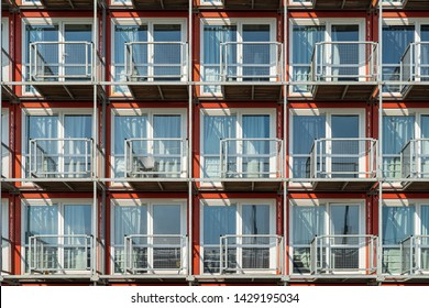 GRONINGEN - THE NETHERLANDS, June 18, 2019: Pile of container homes for students in the city of Groningen, Holland.
