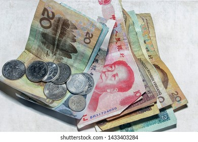 GRONINGEN, THE NETHERLANDS- NOV 5, 2007:Chinese money in bills and coins isolated on white