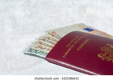 GRONINGEN, THE NETHERLANDS- NOV 5, 2007:Euros in European passport