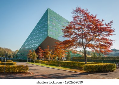 groningen, NETHERLANDS - October 14, 2018: image of Linnaeusborg life sciences faculty building on Zernike complex of Groningen University
