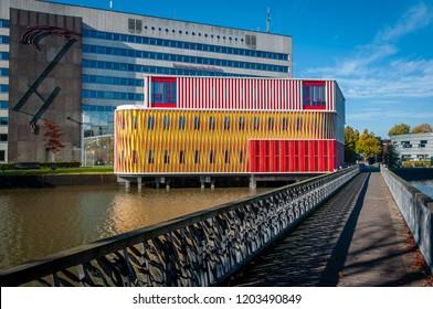 groningen, NETHERLANDS - October 14, 2018: the University in Groningen, Holland. Named the Duisenberg Building