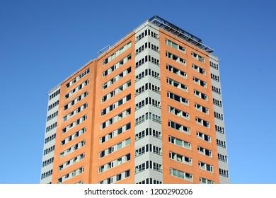 Groningen. November-04-2011. Modern apartment building in the city of Groningen. The Netherlands
