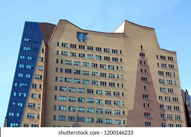 Groningen. September-16-2011. Modern dutch building of the Gasunie in the city of Groningen. The Netherlands