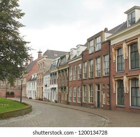 Groningen. September-17-2017. Historic houses on the Martinikerkhof in the city of Groningen. The Netherlands