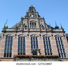 Groningen. September-27-2013. University building in the city of Groningen. The Netherlands