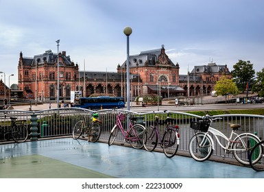 Groningen train station is a beautiful building located in Groningen, capital of eponymous province of Netherlands.