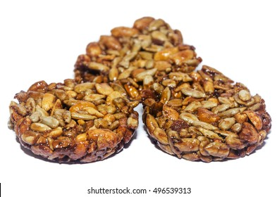 gronola in isolation, healthy food whole grains, white background