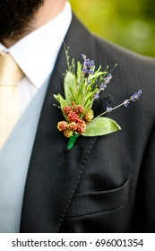 Groom buttonhole boutonniere