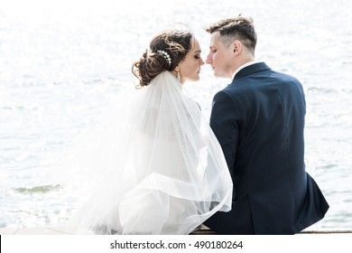 groom kisses the bride
