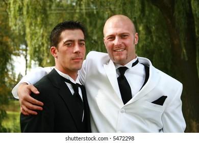 Groom and one of his groomsmen.
