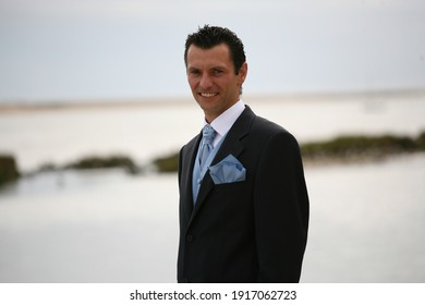 groom in the river, nature and boats