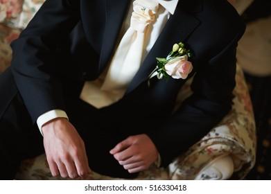 Groom suit on wedding day