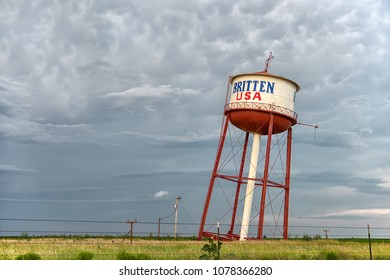 Groom, Texas, USA - 2015 07 04 : Leaning Water Tower of Texas. Famous attraction on Route 66