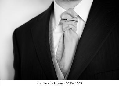 Groom with tuxedo