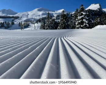 Groomed snow at Stoos in Switzerland