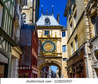 The Gros-Horloge (Great-Clock) is a fourteenth-century astronomical clock in Rouen, Normandy, France